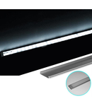 Profil Aluminiu LAT PT. pentru banda LED&accesori profil din aluminiu aparent lat - L:1m W:24 h:6mm
