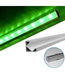 Profil Aluminiu 90° PT pentru banda LED capac terminal cu gaura