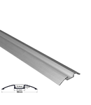 Profil aluminiu oval PT pentru banda LED & accesorii dispersor transparent - L:1m