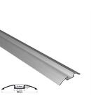 Profil aluminiu oval PT pentru banda LED & accesorii dispersor mat - L:1m