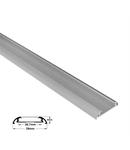 Profil aluminiu oval lat PT pentru banda LED & accesorii dispersor transparent - L:1m