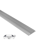Profil aluminiu oval lat PT pentru banda LED & accesorii clema de fixare INOX