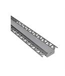 Profil aluminiu lat ST rigips pentru banda LED & accesorii profil ingropat lat - L:2m W:62mm h:15mm
