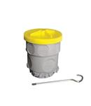 Doza ramificatie si iluminat pentru beton IP65 ramificatie & iluminat - 12 intrari - IP65