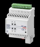 Actuator jaluzele EASY - 2 canale - 6A - EASY - 4 module- montare pe sina omega