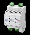 ACTUATOR pentru GENERAL LOADS - 4 canal - 10A - EASY - 4 module - montare pe sina omega