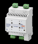 ACTUATOR pentru GENERAL LOADS- 4 canal - 16AX - EASY - 4 module - montare pe sina omega