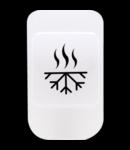 Lentila cu simbol iluminabil- HEATING / COOLING