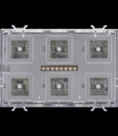 PUSH BUTTON PANEL MODULE  - EASY - TOUCH - 6 canale - 3 module - WITH INTERCHANGEABLE SYMBOL - CHORUS