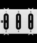 PUSH BUTTON PANEL MODULE - EASY - TOUCH - 6 canale - 3 module - CHORUS