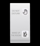 Tasta buton pentru PUSH-BUTTON PANEL - HOTEL SOLUTION - 2 lentilaES - DND+MUR - 1 MODULE - ALB
