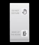 Tasta buton pentru PUSH-BUTTON PANEL - HOTEL SOLUTION - 2 lentilaES - DND+MUR - 1 MODULE - ALB