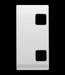 Tasta buton pentru PUSH-BUTTON PANEL - se completeaza cu  2 lentila - 1 MODULE - ALB - CHORUS