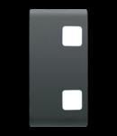 Tasta buton pentru PUSH-BUTTON PANEL - se completeaza cu  2 lentila - 1 MODULE - NEGRU - CHORUS