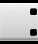 Tasta buton pentru PUSH-BUTTON PANEL - se completeaza cu  2 lentila - 2 module - ALB - CHORUS