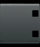 Tasta buton pentru PUSH-BUTTON PANEL - se completeaza cu  2 lentila - 2 module - NEGRU - CHORUS