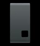Tasta buton pentru PUSH-BUTTON PANEL - se completeaza cu  lentila - 1 MODULE - NEGRU - CHORUS
