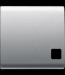 Tasta buton pentru PUSH-BUTTON PANEL - se completeaza cu  lentila - 2 module - TITANIUM - CHORUS