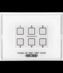 TEST PALTE - pentru KNX/EASY PUSH BUTTON PANEL MODULE - WITH INTERCHANGEABLE SYMBOL - CHORUS