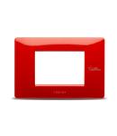 Placa ornament Rosu, aparataj  antimicrobian 3 module