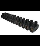 Regleta trecere  6mm negru Scame