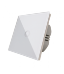 Intrerupator cap scara alb  simplu TOUCH - actionare prin atingere
