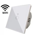 Intrerupator simplu alb  simplu TOUCH - actionare prin atingere plus comunicatie Wifi