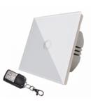 Intrerupator  simplu alb  simplu TOUCH - actionare prin atingere plus telecomanda