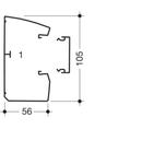 Canal cablu Modul 45 105x56cu prindere rapida aparate, inclinat