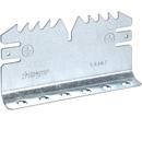 Piese de cuplare Canal cablu metalic, aluminiu anodizat