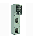 TOPTER WATERTIGHT DISTRIBUTION BOARD WITH TRANSPARENT DOOR, 2 FIXED Priza-OUTLET, IP66