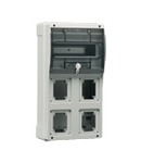 TOPTER BOARD WITH TRANSPARENT WINDOW 4 NON INTERLOCKED PrizaS IP66
