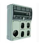 TOPTER BOARD FOR4 INDUSTRIAL SKTS. + 1 SKT 63A EITH TRANSPARENT DOOR E 16 MODULES IP66