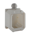 TOPTER WALL-MOUNTED BOX FOR 1 Priza-OUTLET AND FLANGE TOPTER SERIES 65X83 IP66/IP67