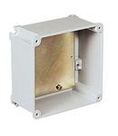 ALUPRES doza conexiuni  din aliaj aluminiu WITH BLIND WALLS WITH BACK PLATE 155X155X63 IP55