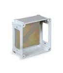 ALUPRES doza conexiuni  din aliaj aluminiu 155X155X63 WITH WINDOWS F1/F1/F1/F1 - IP55