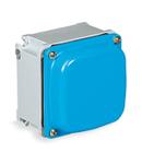 ALUPRES doza conexiuni  din aliaj aluminiu WITH BLIND WALLS EXTERNAL DIMENSIONS 125X125X73 IP67
