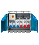 Organizator ENERGYBOX ASSEMBLY ACS WITH TERMINAL BLOCK AND 6 SWITCHED INTERLOCKED PrizaS 3X 16A 2P+E 230V/3X 16A 3P+E 380-415V MCB IP65