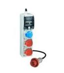 Organizator ENERGYGO PORTABLE ACS BOARD WITH 3 INTERLOCKED PrizaS 1X16A 2P+E 220V/1X16A 3P+E 380V, Stecher / Fisa 16A 3P+N+E, MCB 4P 16A, RCD 30MA: 4P 16A IP66