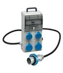 Organizator ENERGYGO PORTABLE ACS BOARD WITH 4 PRESE FISSE 16A 2P+E 220V, Stecher / Fisa 16A 2P+E, MCB 2P 16A, RCD 2P 25A 30MA IP66