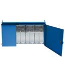 ENERGY METALBOX ASSEMBLY (ACS) IN METALLIC CABINET WITH 5 MCBS 2X 16A 380-415V 2P/2X 16A 380-415V 4P/ 1X32A 380-415V 4P - 40KW IP65