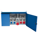ENERGY METALBOX ASSEMBLY (ACS) IN METALLIC CABINET WITH 5 SWITCHED INTERLOCKED PrizaS WITH FUSES 1X16A 2P+E 230V/2X 16A 3P+E 400V/ 1X32A 3P+E 400V/1X32A 3P+N+E 380-415V - IP65
