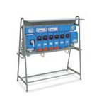 ENERGY TAIS ASSEMBLY ACS ON SUPPORT WITH 9 SWITCHED INTERLOCKED PrizaS 3X 16A 2P+E 230V/3X 16A 3P+E 400V/2X 32A 3P+E 400V/1X63A 3P+E 400V IP65