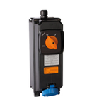 ATEX WALL-MOUNTING INTERLOCKED Priza-OUTLET WITH FUSE-HOLDER BASE IN INSULATING MODULAR ENCLOSURE 63A 220V 3P+E 9H IP66