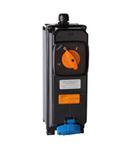 TAIS-EX SWITCHED Priza din fibra cu interblocaj mecanic AND MCB 16A 2P+E 100-130V 50-60HZ 4H 2D 3G