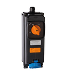 TAIS-EX SWITCHED Priza din fibra cu interblocaj mecanic AND MCB 32A 2P+E 200-250V 50-60HZ 6H 2D 3G