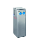 B-SMART STAINLESS STEEL AISI 316L BOLLARD FOR CAMPSITES WITH 4 INDUSTRIALPriza OULETS