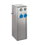 B-SMART STAINLESS STEEL AISI 316L BOLLARD FOR CAMPSITES WITH 4 INTERLOCKED Priza OUTLETS