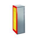 B-SMART STAINLESS STEEL AISI 316L FIREPROOF BOLLARD FOR 1 EXTINGUISHER IP56