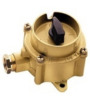 NAVE WATERTIGHT ROTARY CONTROL SWITCH TYPE UNAV 2162 10A 1P 250V IN SOLID BRASS ENCLOSURE IP66